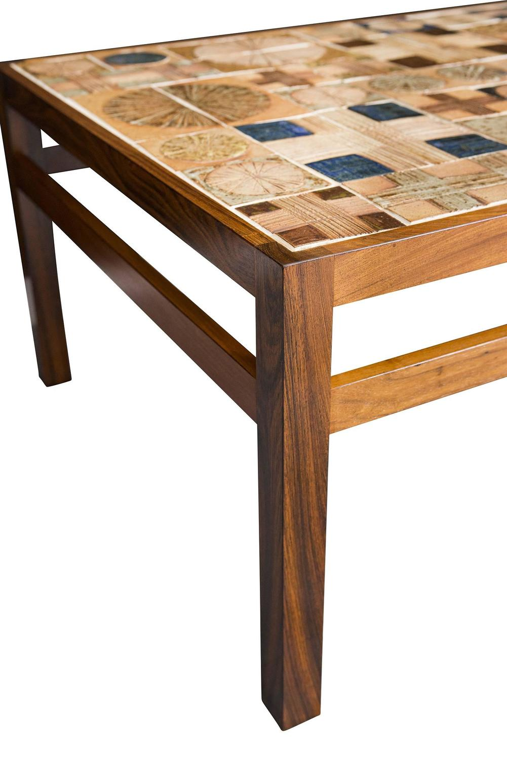 Tue Poulsen Tile Coffee Table At 1stdibs