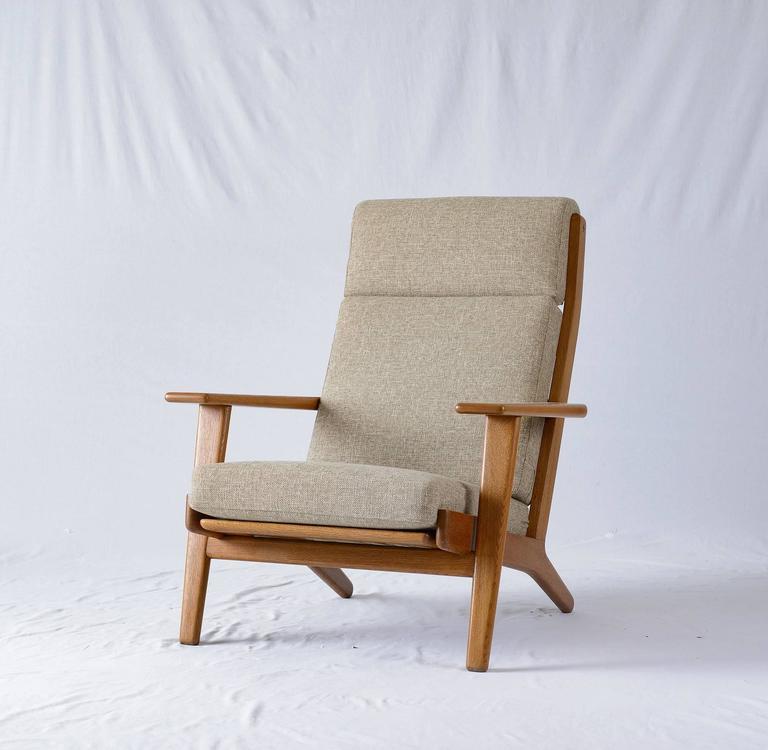 lounge chairs hans wegner. Scandinavian Modern Hans Wegner GE-290 High Back Lounge Chair For Sale Chairs