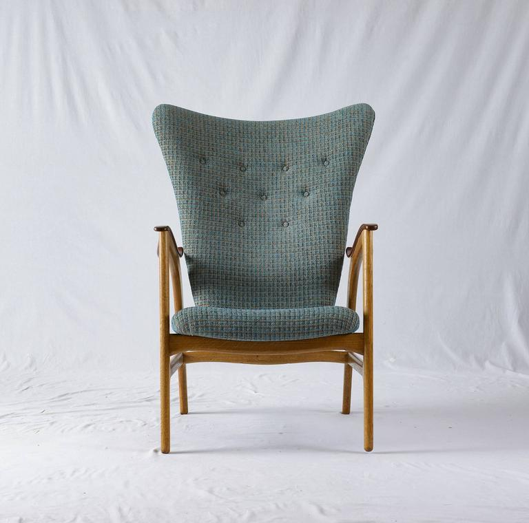 Danish wingback lounge chair.