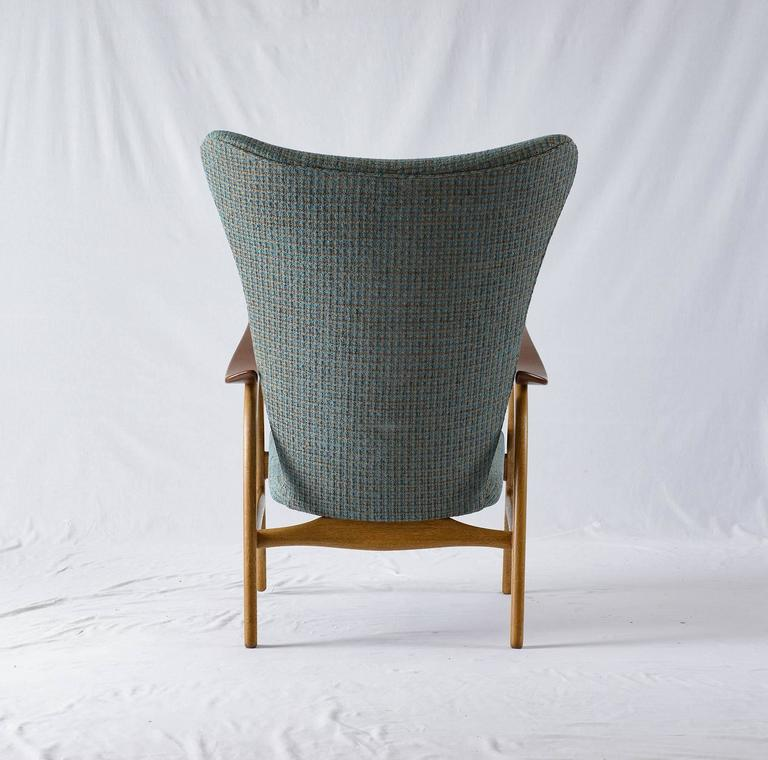 Danish Wingback Lounge Chair 7