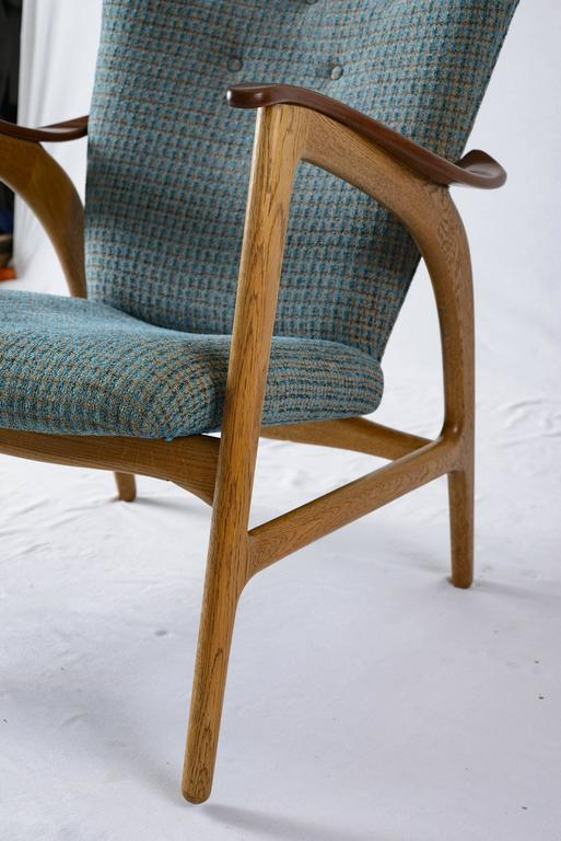 Danish Wingback Lounge Chair For Sale 3