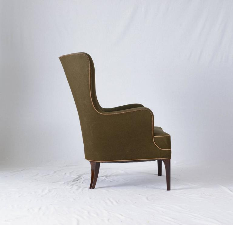 Frits Henningsen High Back Lounge Chair at 1stdibs