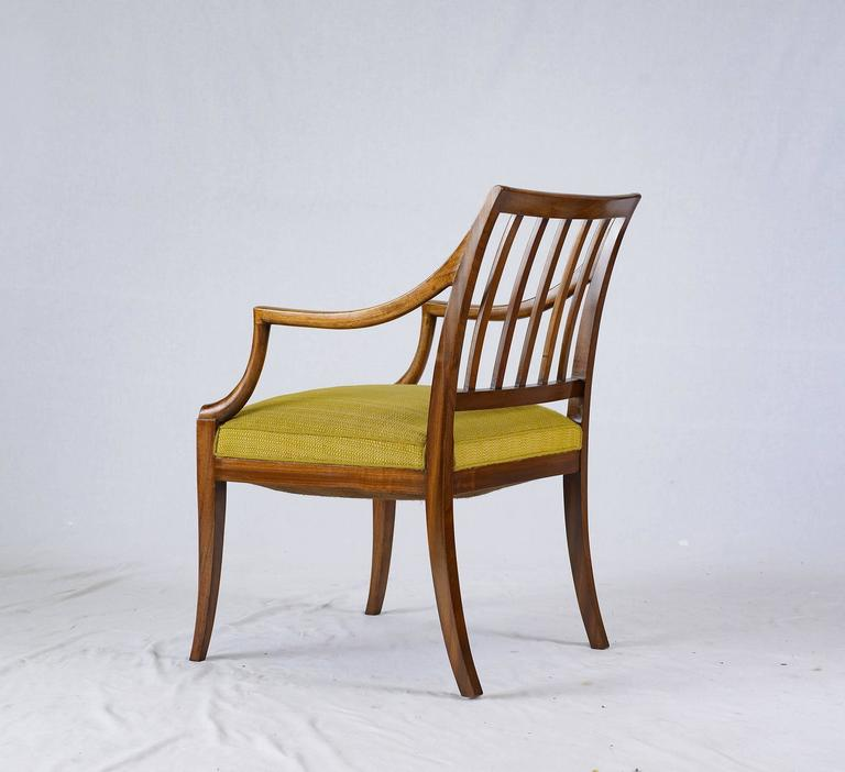 Fabric Frits Henningsen Armchair For Sale