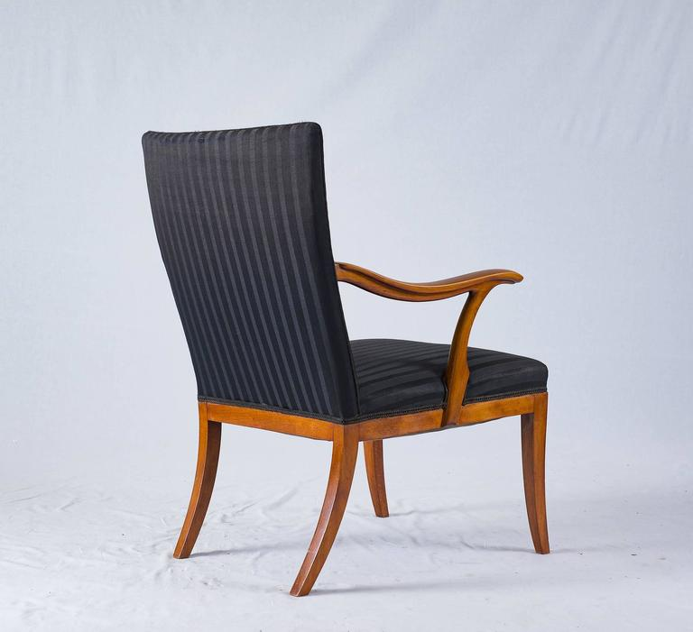 Beech Frits Henningsen Lounge Chair For Sale