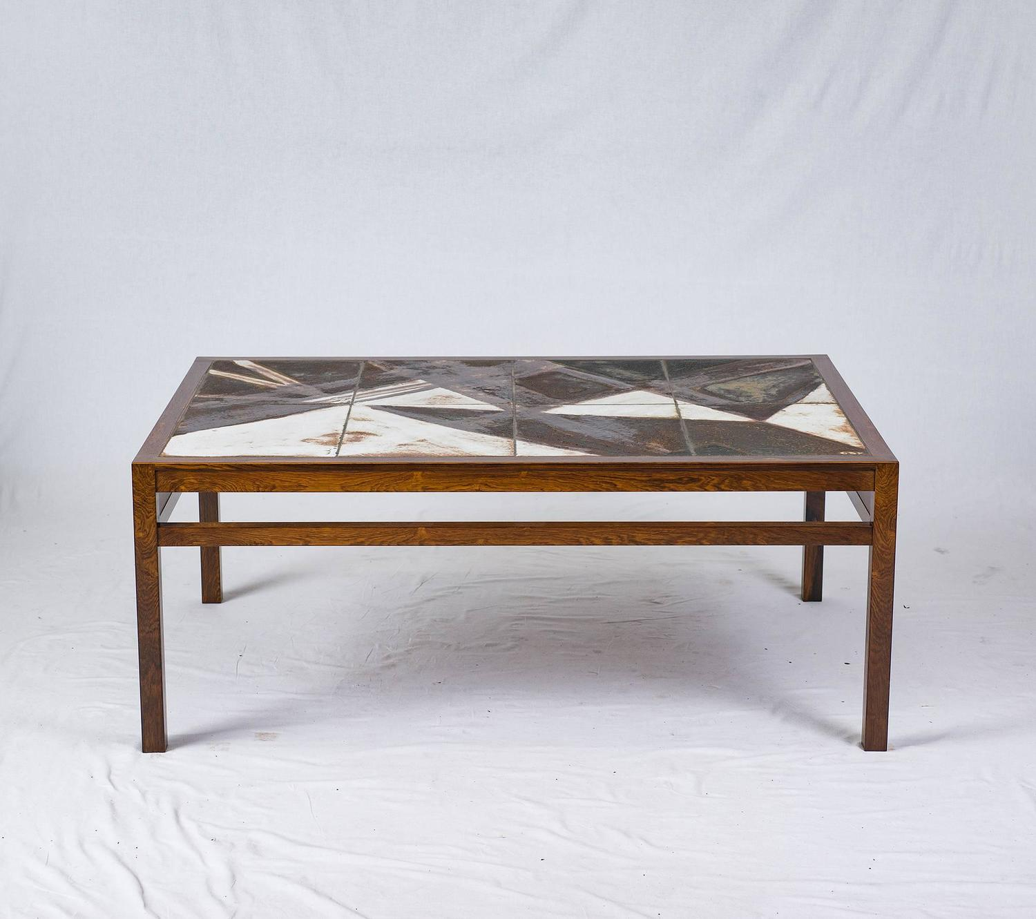 Danish Rosewood Abstract Tile Coffee Table For Sale At 1stdibs