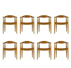 Set of Eight Hans Wegner JH-503 Chairs