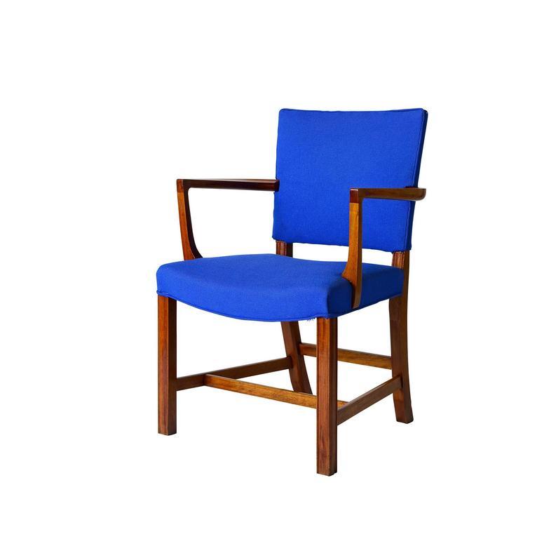 Scandinavian Modern Set of Six Kaare Klint Armchairs For Sale
