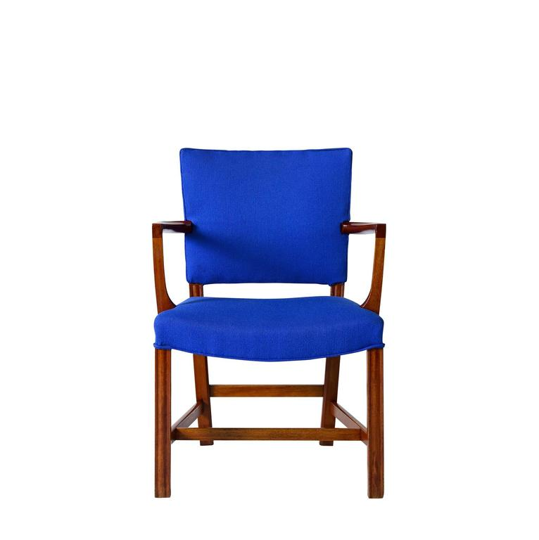 Set of Kaare Klint armchairs designed in 1927 and produced by Rud Rasmussen.