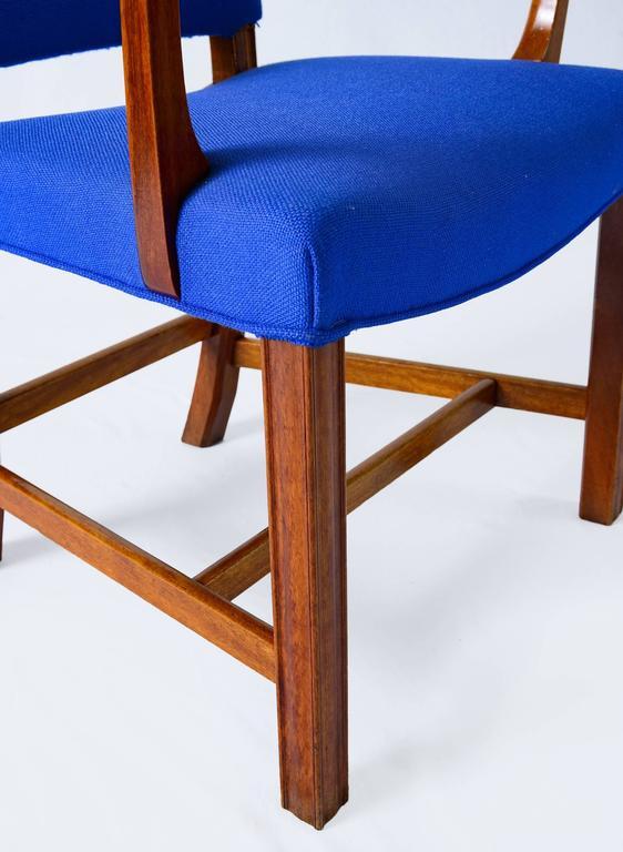 Set of Six Kaare Klint Armchairs For Sale 2