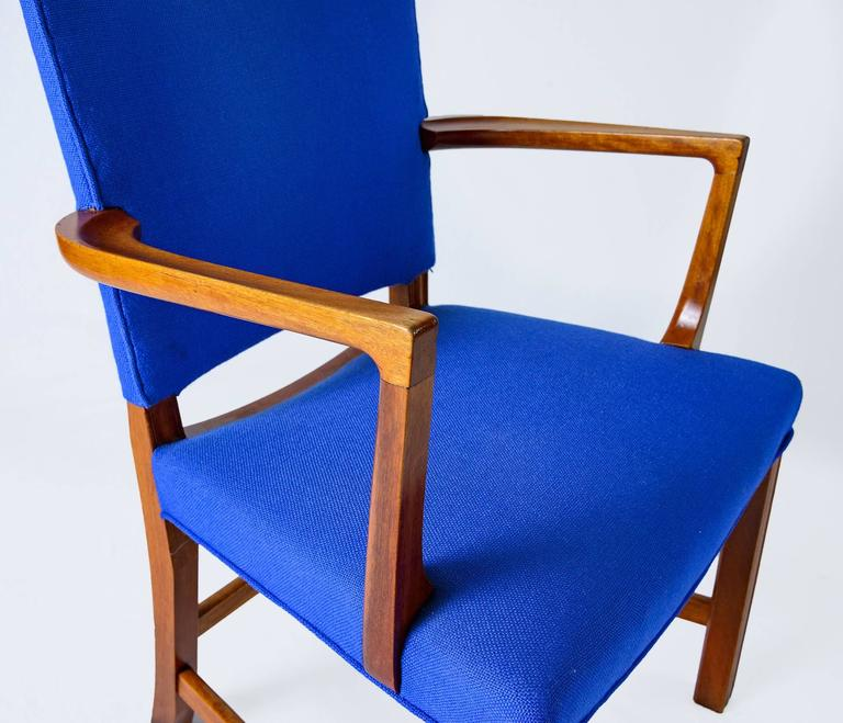 Set of Six Kaare Klint Armchairs For Sale 1