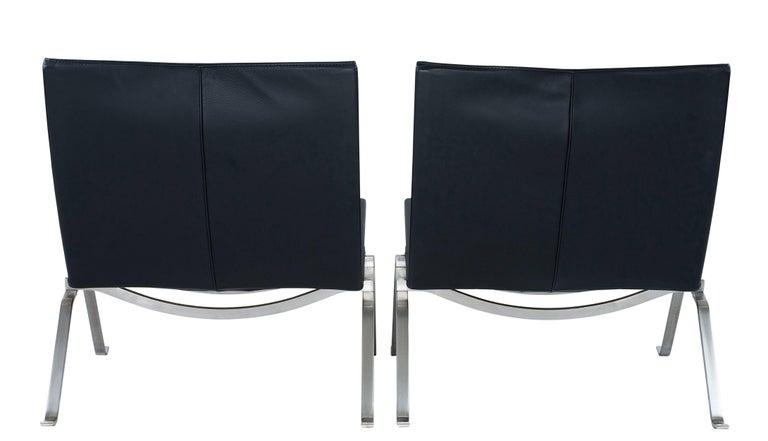 Pair of Poul Kjaerholm PK 22 Lounge Chairs by Fritz Hansen 2