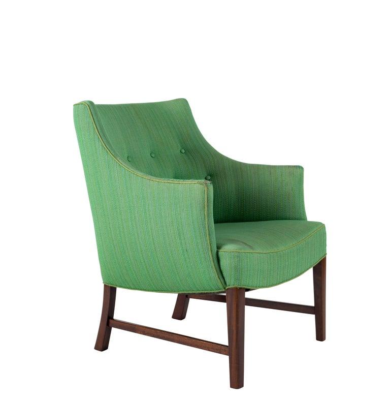 Scandinavian Modern Frits Henningsen Lounge Chair For Sale