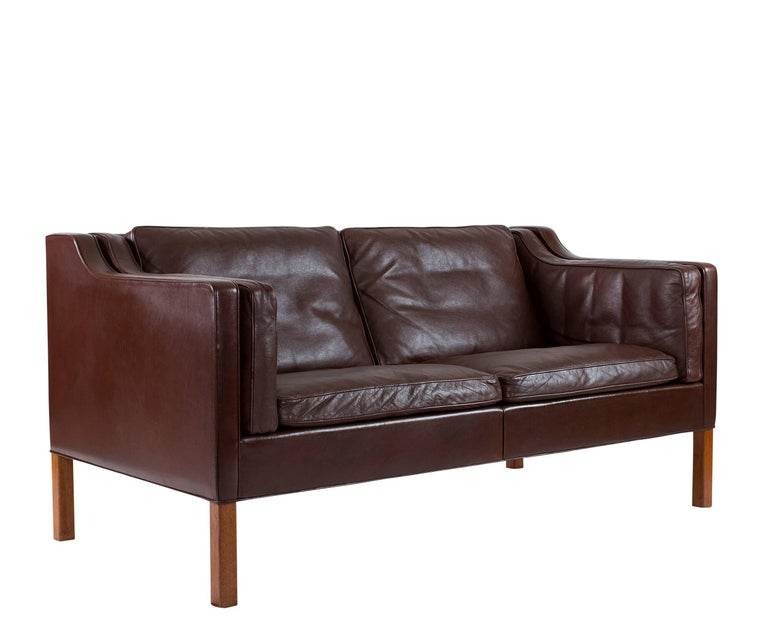 867bc64176315d Scandinavian Modern Børge Mogensen Model  2212 Two-Seat Sofa For Sale