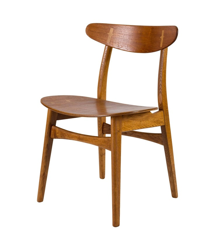 Danish Set of Eight Hans Wegner CH 30 Dining Chairs For Sale