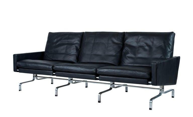 Danish Poul Kjaerholm PK31 Three-Seat Sofa by Fritz Hansen For Sale