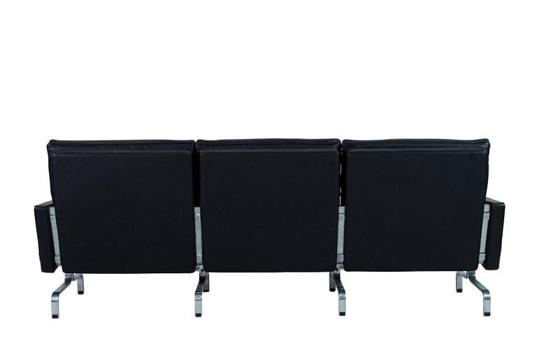 Contemporary Poul Kjaerholm PK31 Three-Seat Sofa by Fritz Hansen For Sale