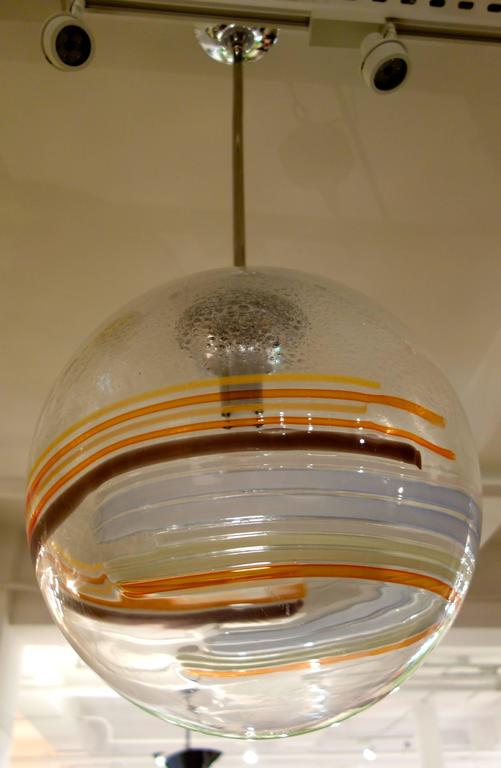Large Midcentury Italian Murano Glass Multi-Color Globe or Chandelier In Excellent Condition For Sale In New York, NY