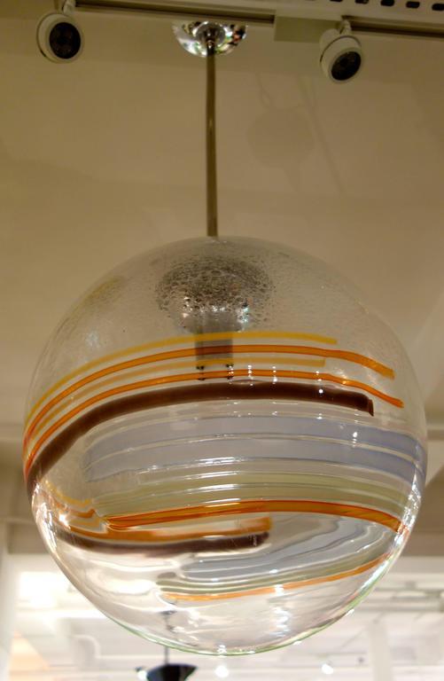 Large Mid-Century Italian Murano Glass Multicolor Globe or Chandelier  4