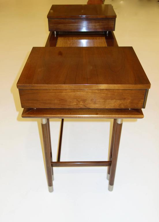 Late 20th Century Mid-Century Modern Writing Desk or Vanity For Sale