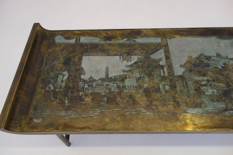 """Philip & Kelvin LaVerne Imperial Palace"""" Bronze and Pewter Cocktail Table  2"""