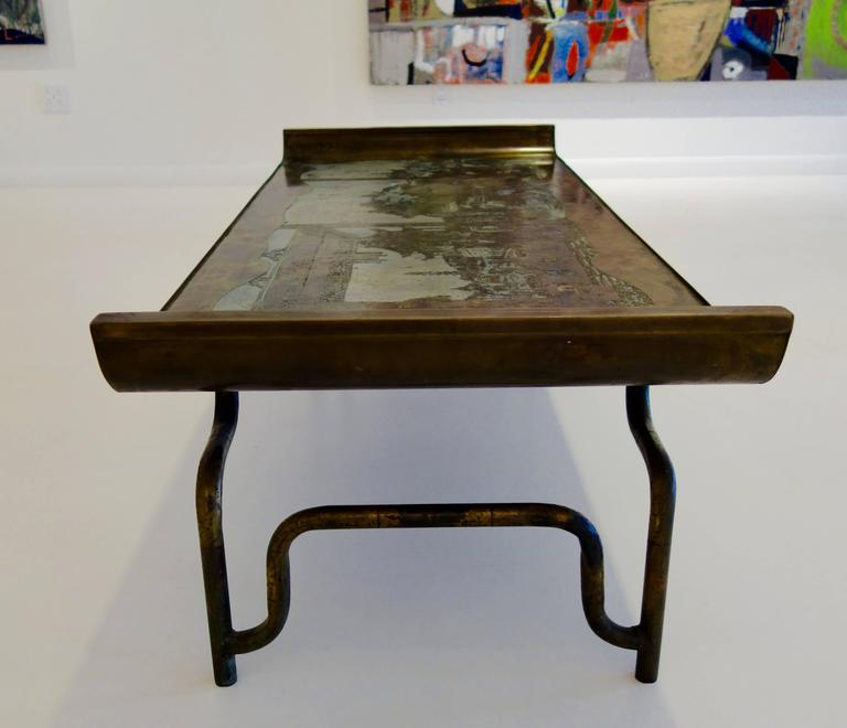 """Philip & Kelvin LaVerne Imperial Palace"""" Bronze and Pewter Cocktail Table  7"""