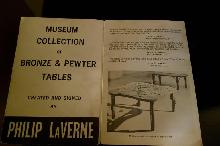 """Philip & Kelvin LaVerne Imperial Palace"""" Bronze and Pewter Cocktail Table  8"""
