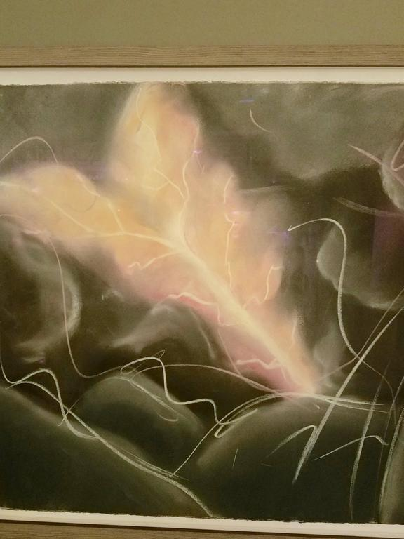"""Luther During the Storm,"" 1981 Framed Grisaille Pastel Diptych by Mark Milloff 2"