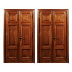 Pair of Italian 19th Century Walnut Double Doors