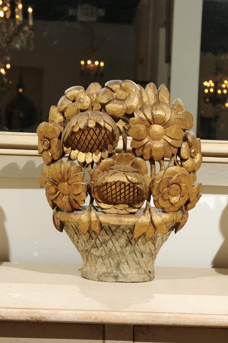 French Louis XVI Period Late 18th Century Giltwood Floral ...