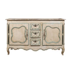 French Painted Buffet of the Louis XV Period with Two Doors and Three Drawers