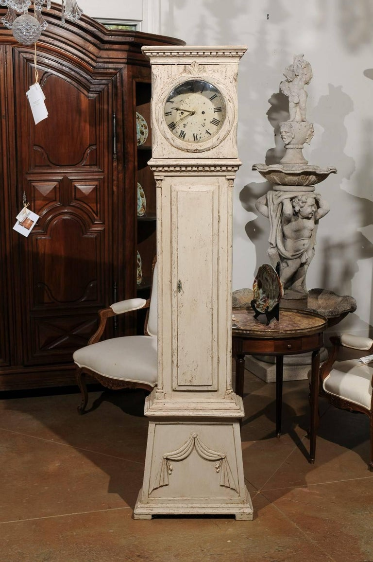Swedish 1820s Neoclassical Tall Case Grandfather Clock