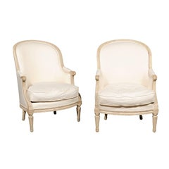 Swedish 19th Century Pair of Bergere Chairs
