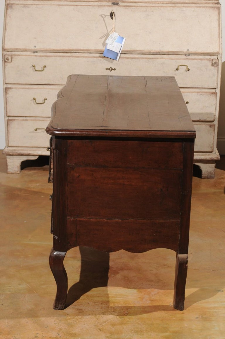 French Louis XV Period 1740s Cévenole Fruitwood Commode with Bronze Hardware For Sale 9