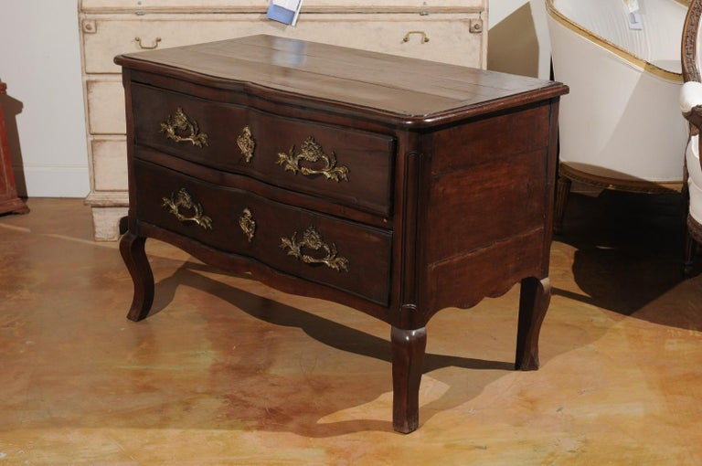 French Louis XV Period 1740s Cévenole Fruitwood Commode with Bronze Hardware For Sale 11