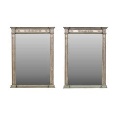 Neoclassical Style Mirrors Made from 1750s French Door Frames with Carved Décor