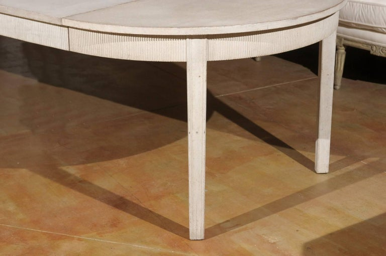 Swedish Gustavian Style Extension Dining Room Table with