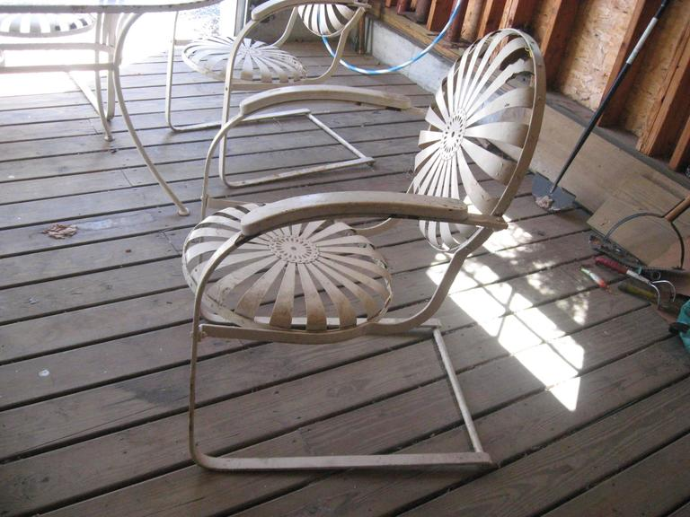 Sunburst Vintage Iron Set By Francois Carre At 1stdibs