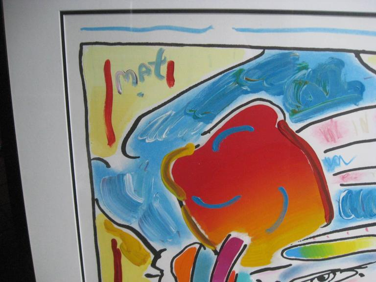 American Original Acrylic Painting by Peter Max For Sale