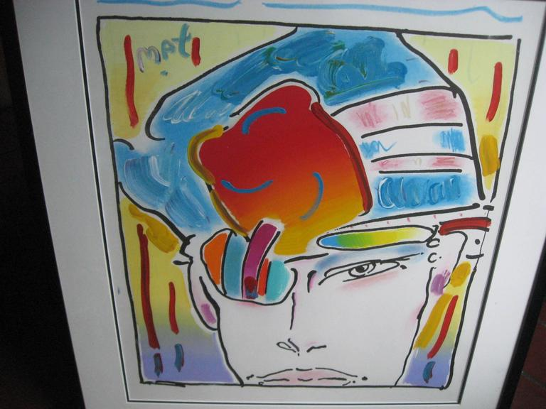 Hand-Crafted Original Acrylic Painting by Peter Max For Sale