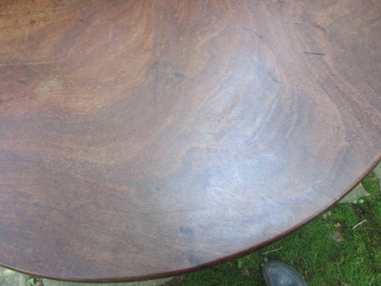 Hand-Crafted 18thc Georgian Mahogany Tilt Top Table For Sale