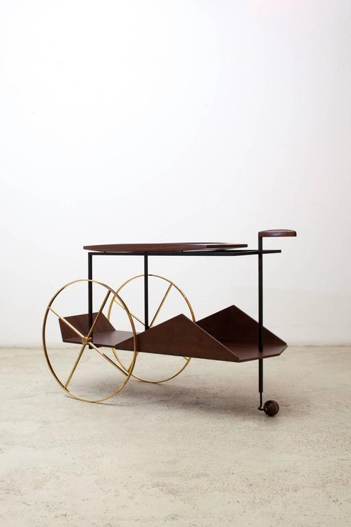 Brazilian 'JZ' Trolley by Jorge Zalszupin For Sale