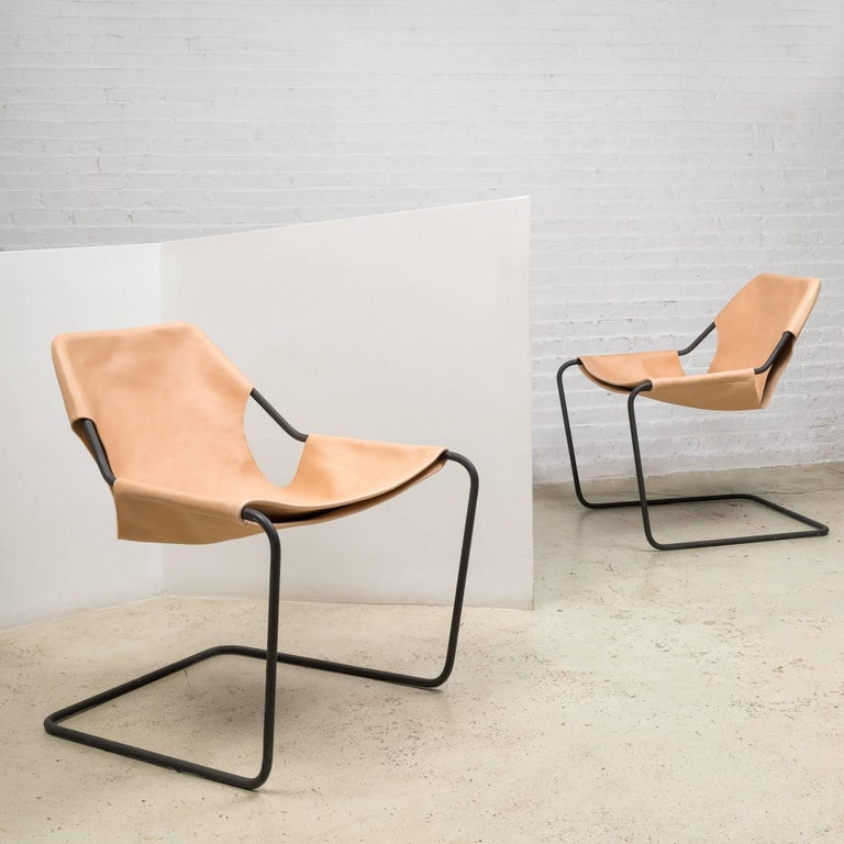 Paulistano Chair in Natural Leather by Paulo Mendes da Rocha 2