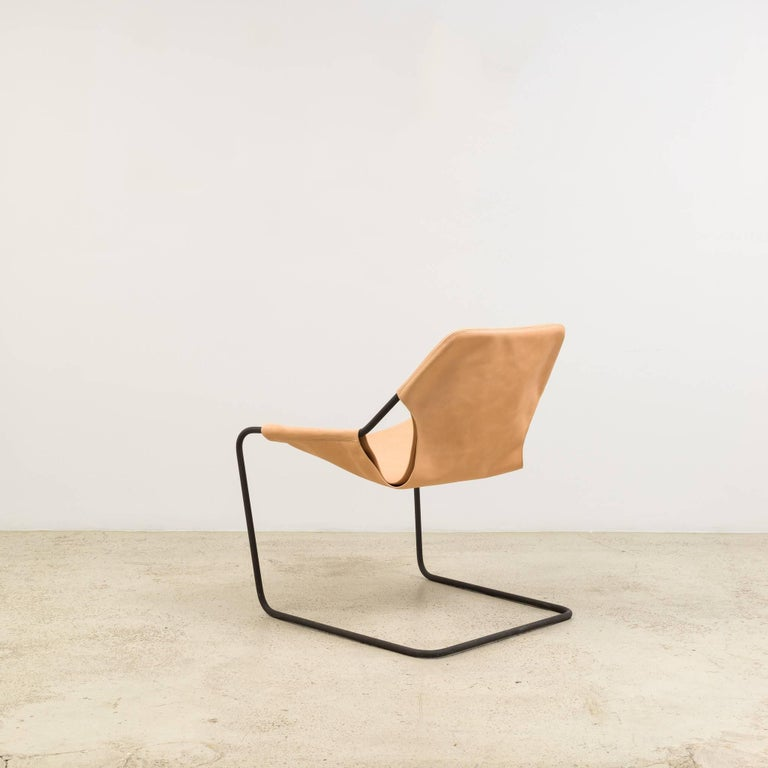 Paulistano Chair in Natural Leather by Paulo Mendes da Rocha 3