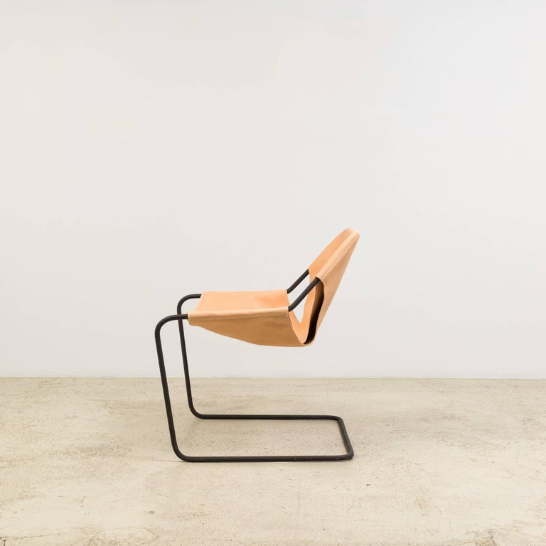 Paulistano Chair in Natural Leather by Paulo Mendes da Rocha 4