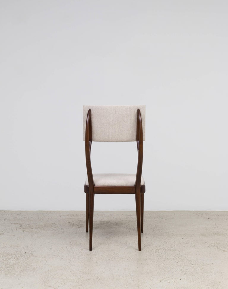 Mid-Century Modern GS4 Dining Chair by Giuseppe Scapinelli For Sale