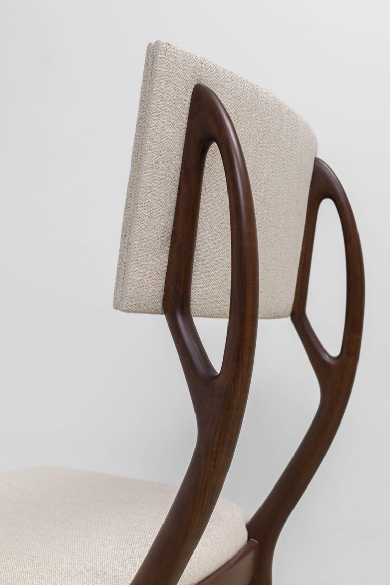 GS4 Dining Chair by Giuseppe Scapinelli In Excellent Condition For Sale In New York, NY