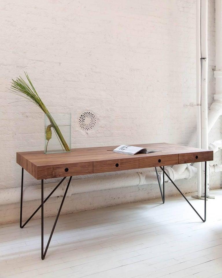 Walnut Quilombo Desk by Arthur Casas For Sale
