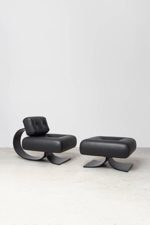 Alta Chair and Ottoman by Oscar Niemeyer For Sale 2