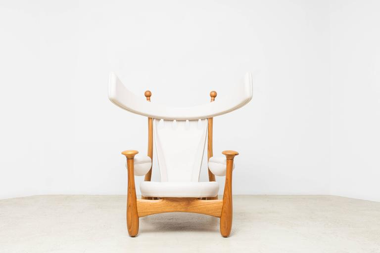 Limited Edition Chifruda Armchair by Sergio Rodrigues For Sale 1