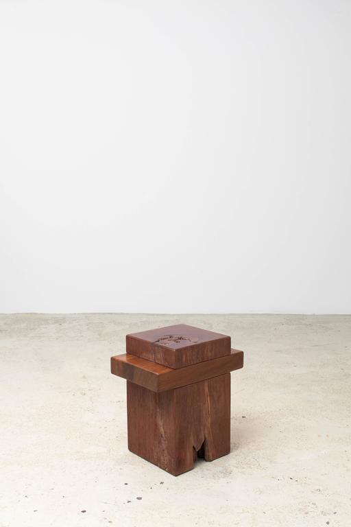 Organic Modern Zanini De Zanine, Pair of 'Joá' Stools, 2012 For Sale